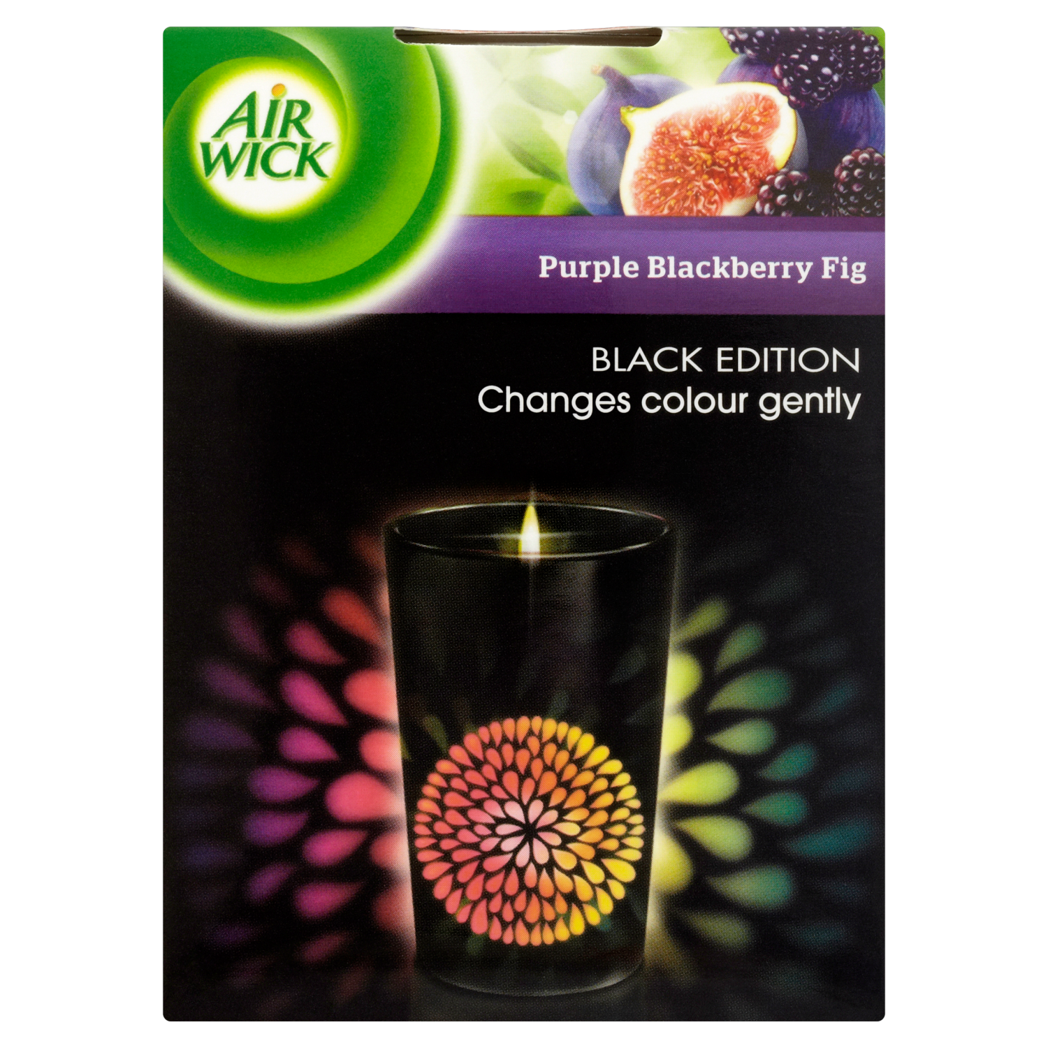 Air Wick Colour Change Candle Purple Blackberry Fig
