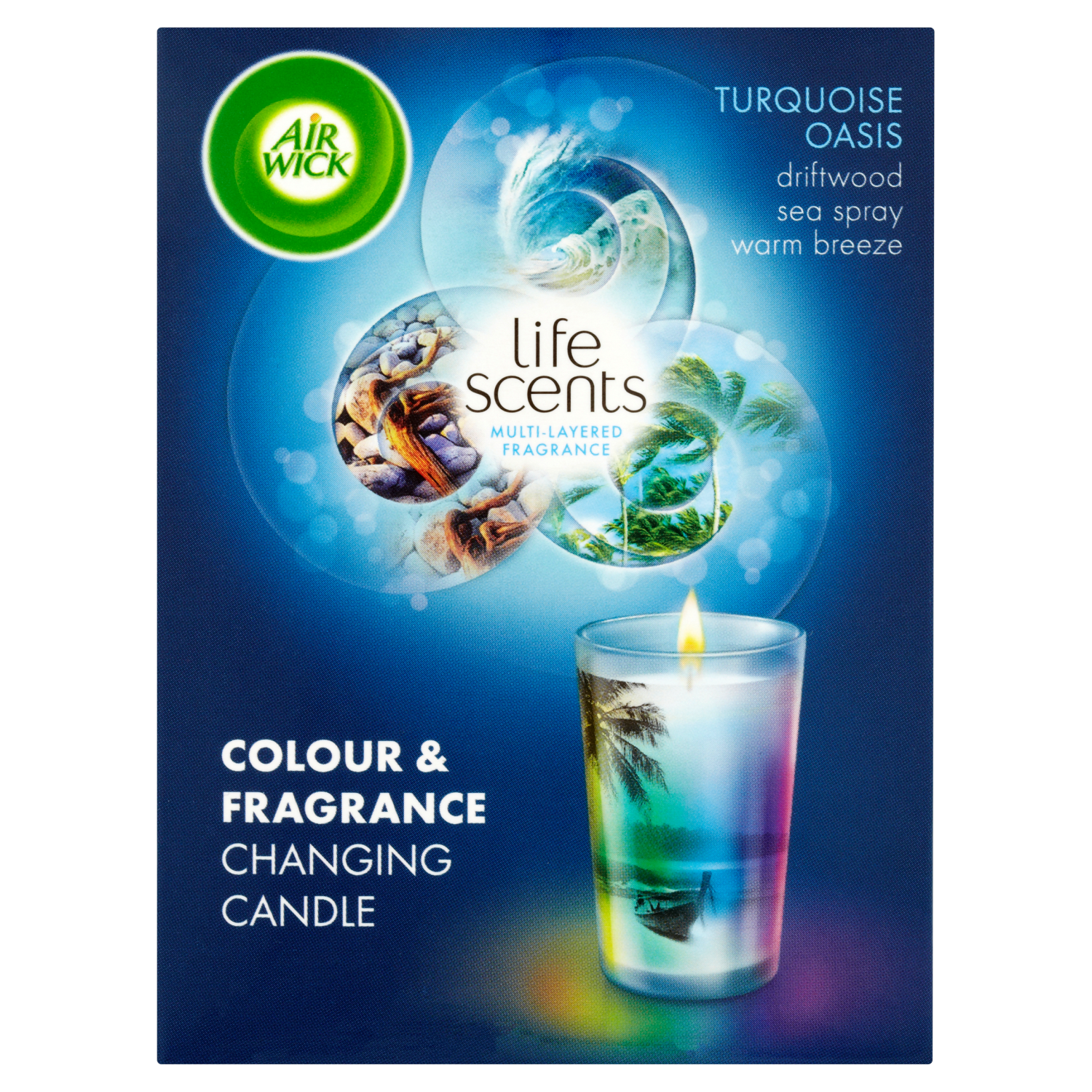 Air Wick Colour Change Candle Life Scents™ Turquoise Oasis