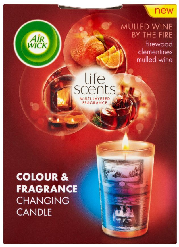 Air Wick® Colour Change Candle - Life Scents™ Mulled Wine by the Fire