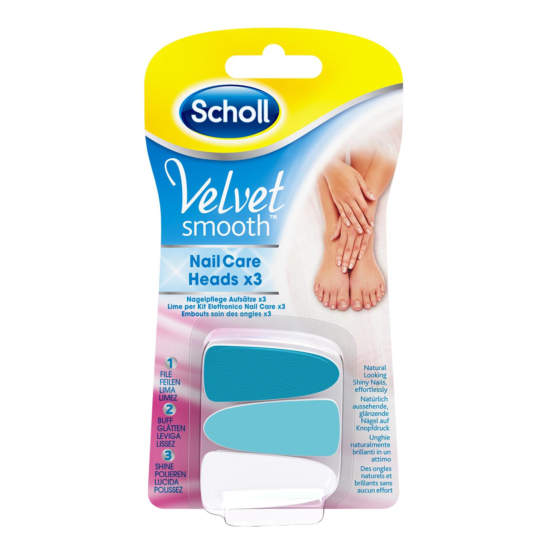 Scholl Velvet Smooth™ Embouts soin des onlges rose