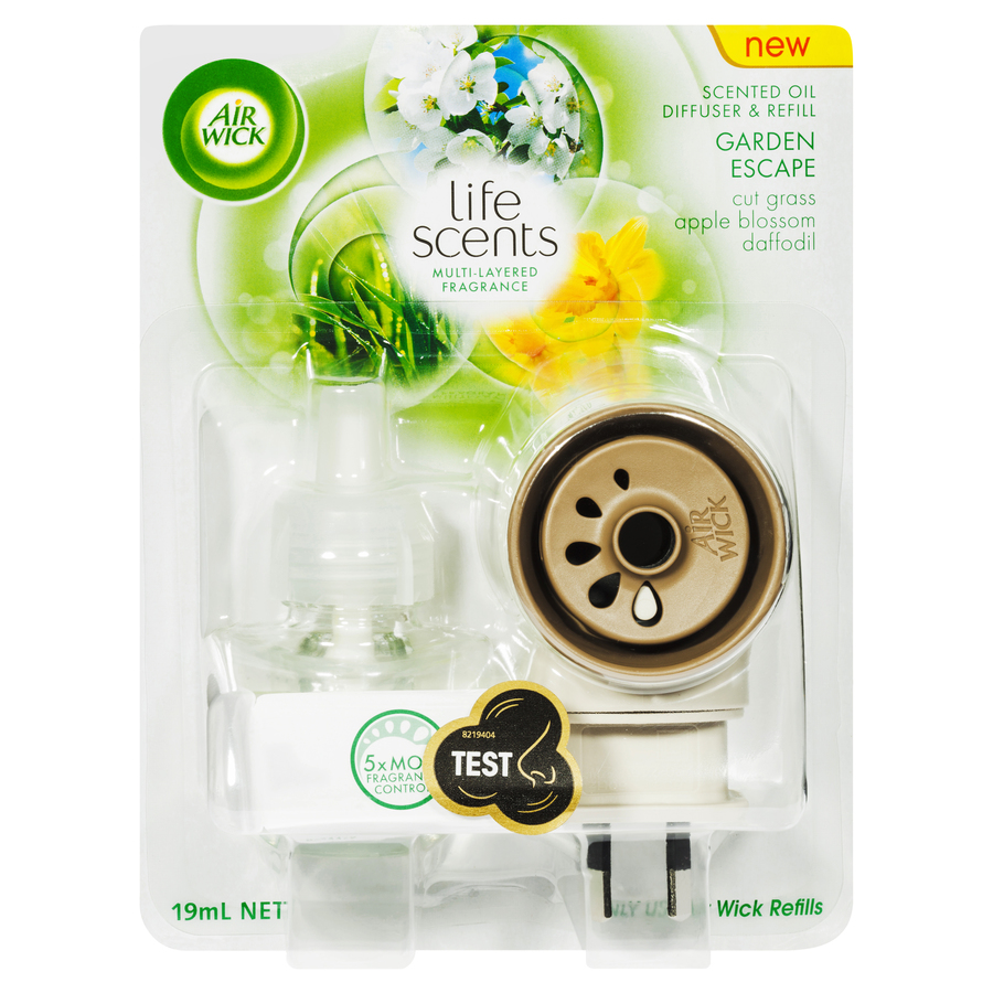AIR WICK LIFE SCENTS SCENTED OIL PLUG IN DIFFUSER GARDEN ESCAPE