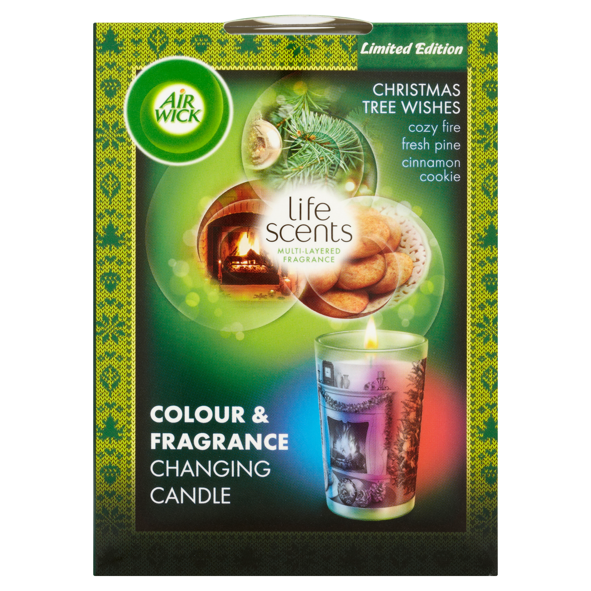 Air WickColour Change Candle Life Scents Christmas Tree Wishes