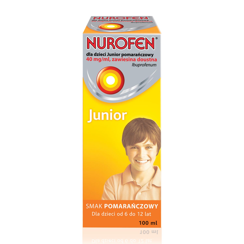 Nurofen dla dzieci Junior o smaku pomarańczowym (Ibuprofen 40 mg / ml)