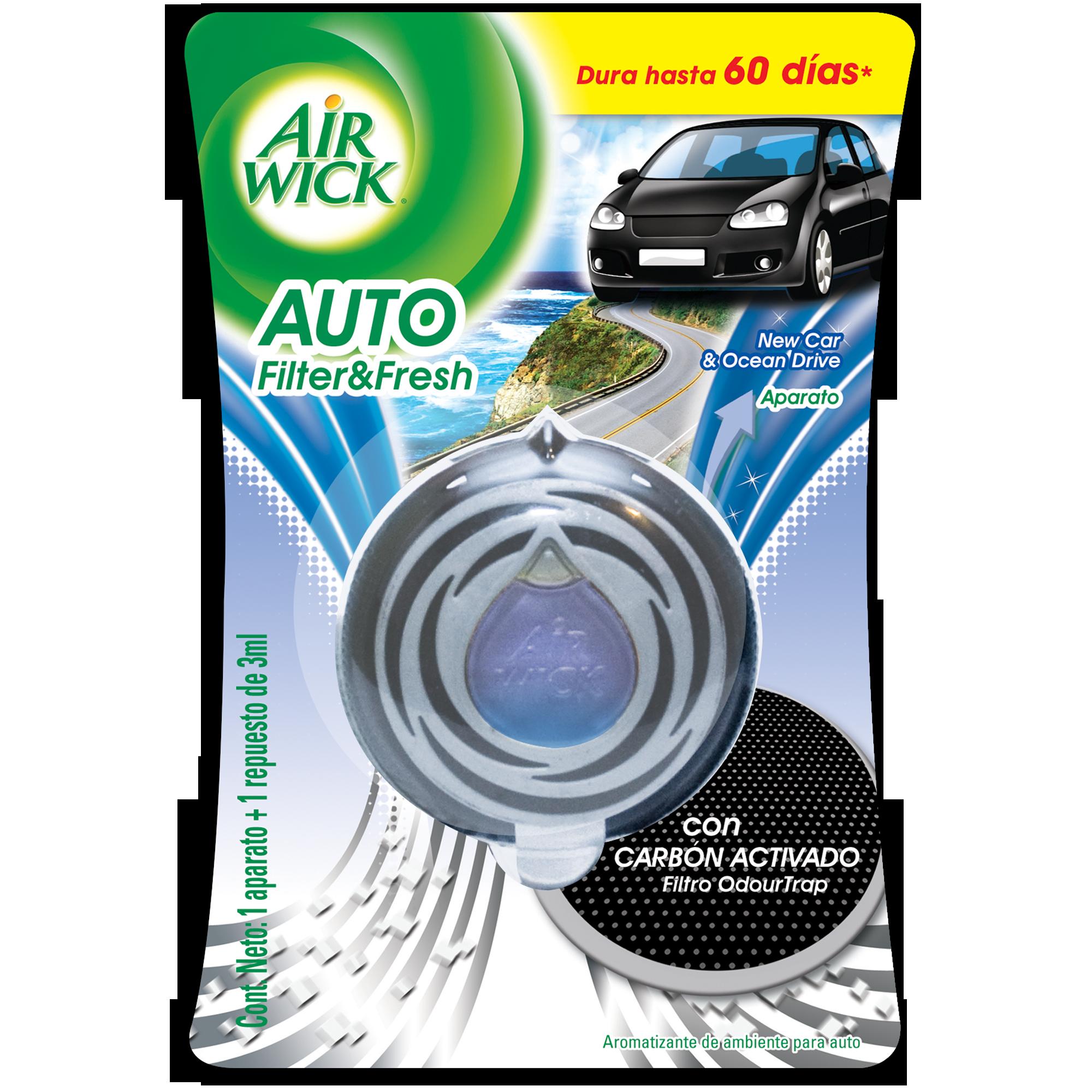 Air Wick® F&F Auto Nuevo Aparato + Repuesto para auto 3 mL