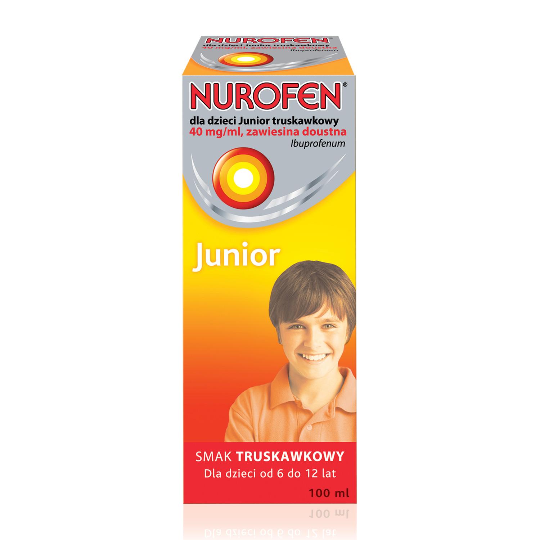 Nurofen dla dzieci Junior o smaku truskawkowym (Ibuprofen 40 mg / ml)
