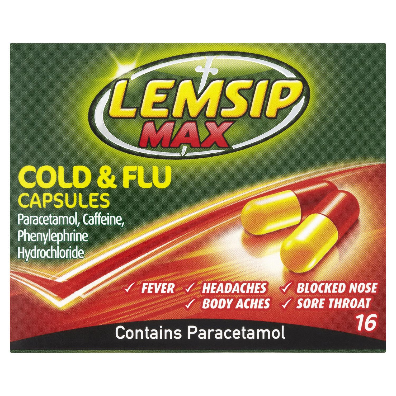 Lemsip Max Cold + Flu Capsules 16s