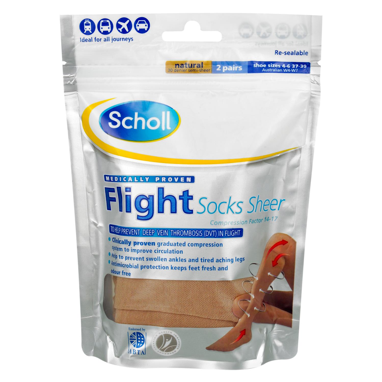 Scholl Flight Socks Sheer