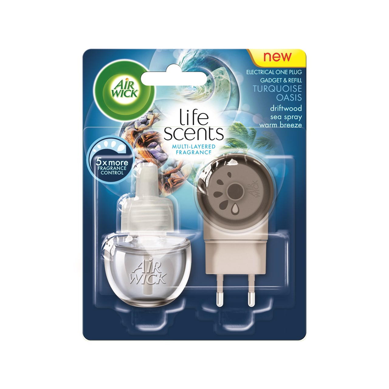Life Scents Turquoise Oasis Electrical Plug In Gadget & Refill