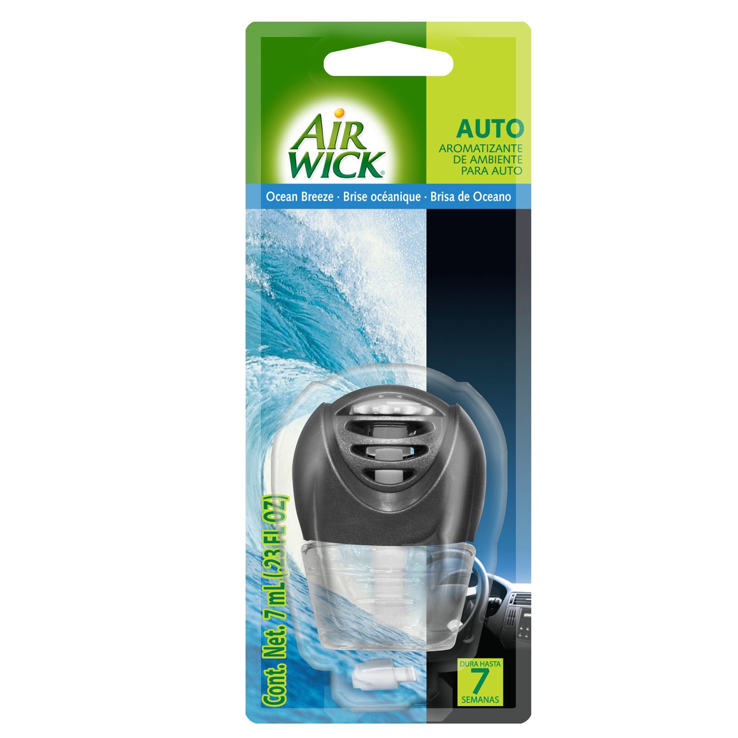 Air Wick® Ocean Breeze Aparato + Repuesto para auto 7mL