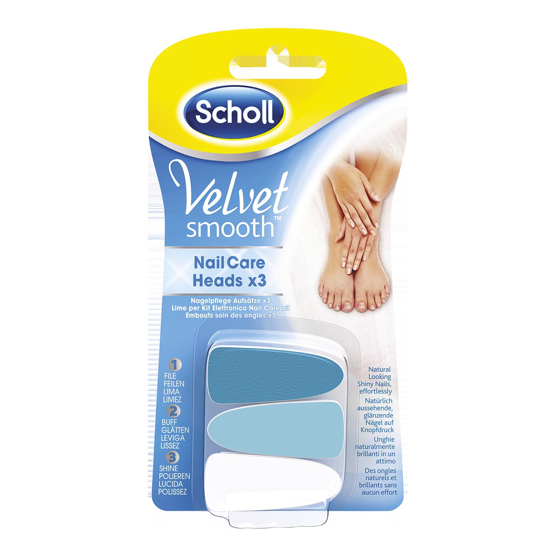 Scholl Velvet Smooth™ nadomestne brusilne glave za set za nego nohtov