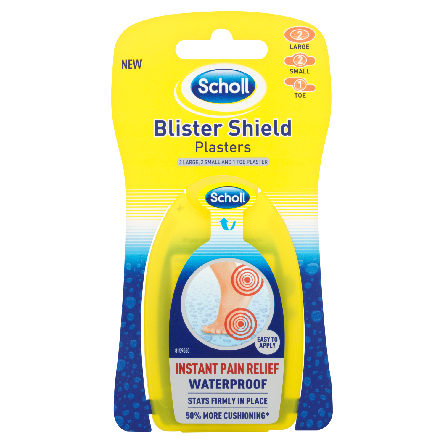 Scholl Blister Shield Plasters Mixed Large & Small