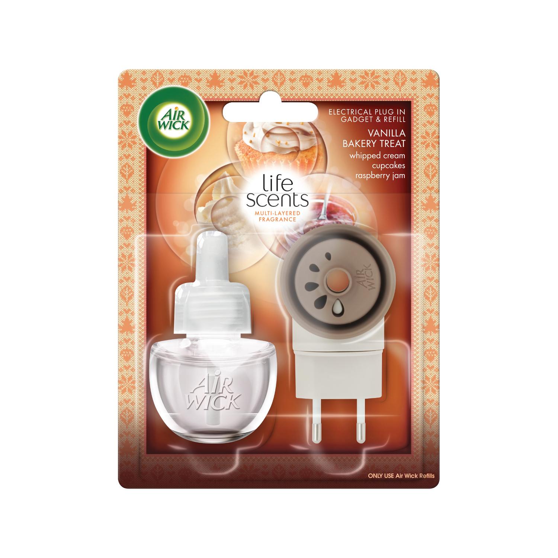 Elektrický osvěžovač vzduchu - strojek & náplň - Vůně vanilkového pečiva