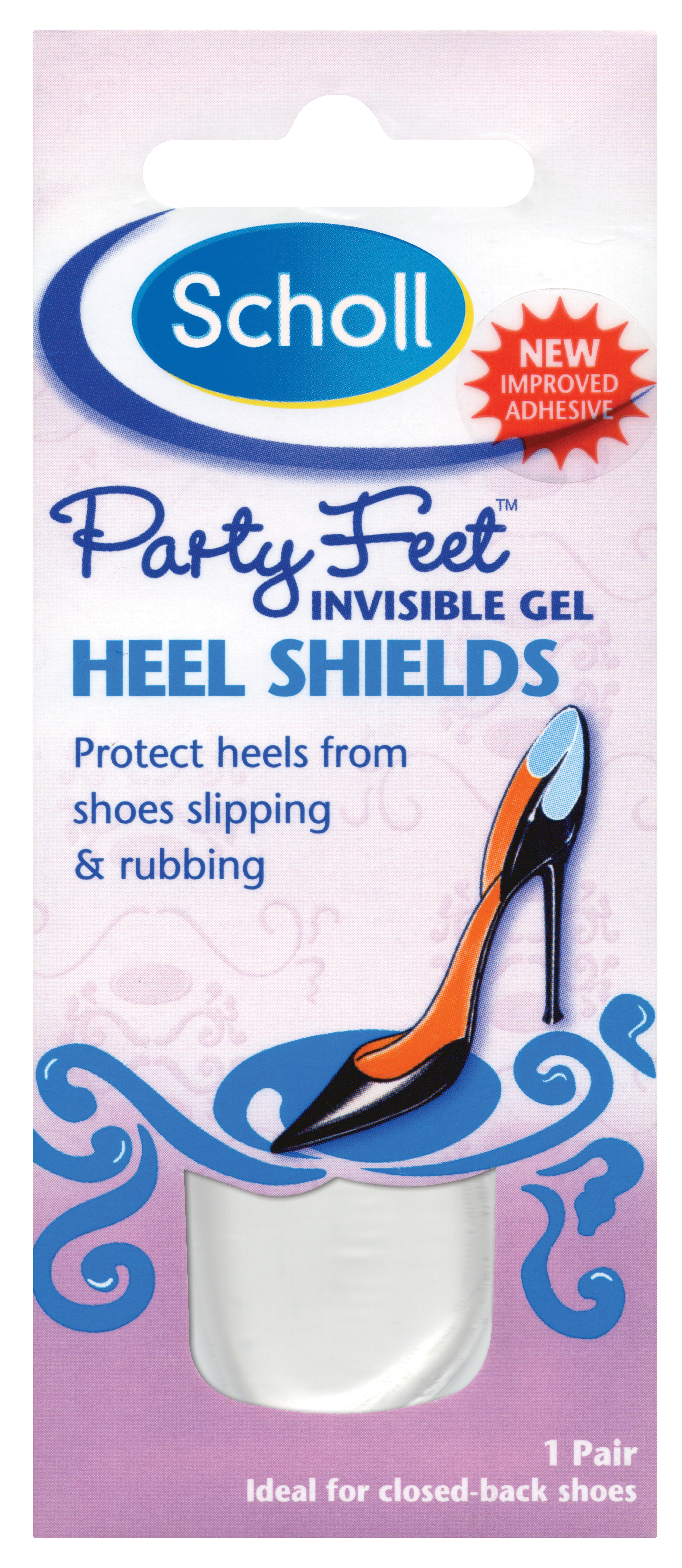 Scholl Party Feet™ Invisible Gel Heel Shields