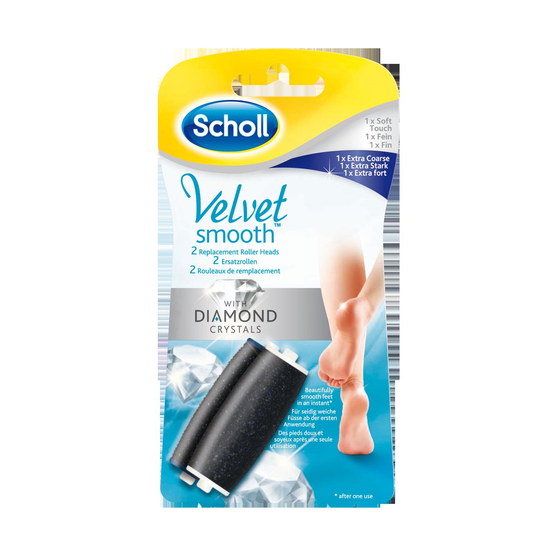 Scholl Velvet Smooth™ mit Diamantpartikeln Ersatzrolle Extra Stark und Fein