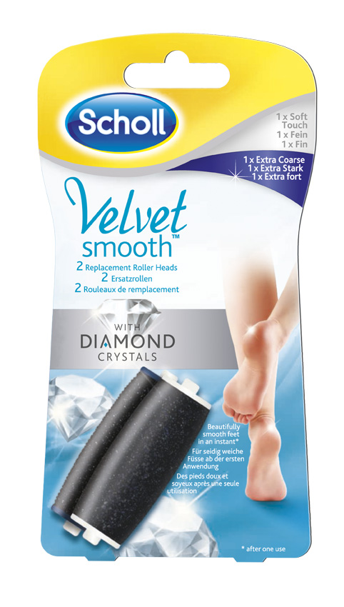 Scholl Velvet Smooth™ Express Pedi Replacement Roller Heads Mix Pack