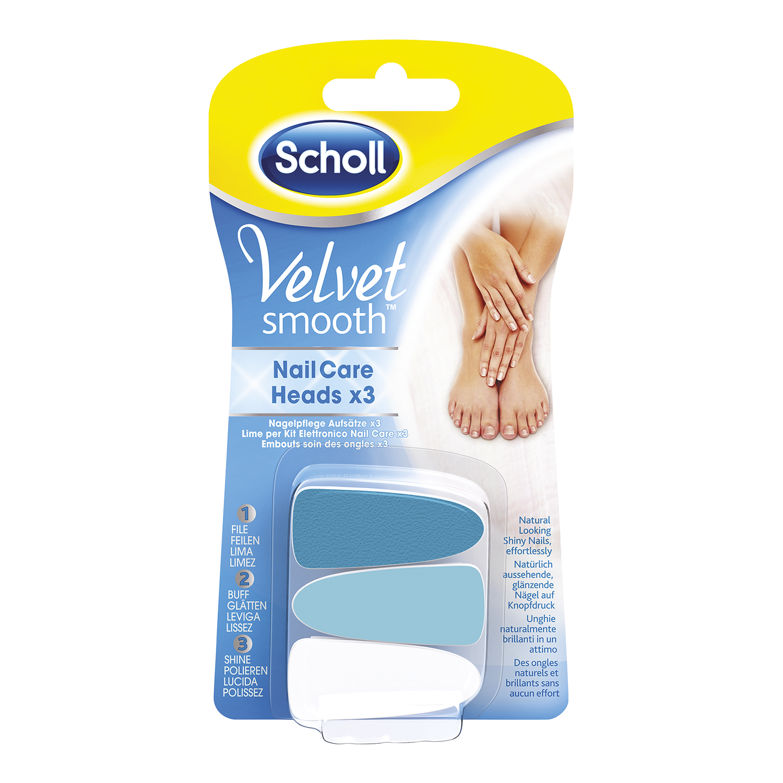 Scholl Velvet Smooth™ zamjenske brusne glave za set za njegu noktiju