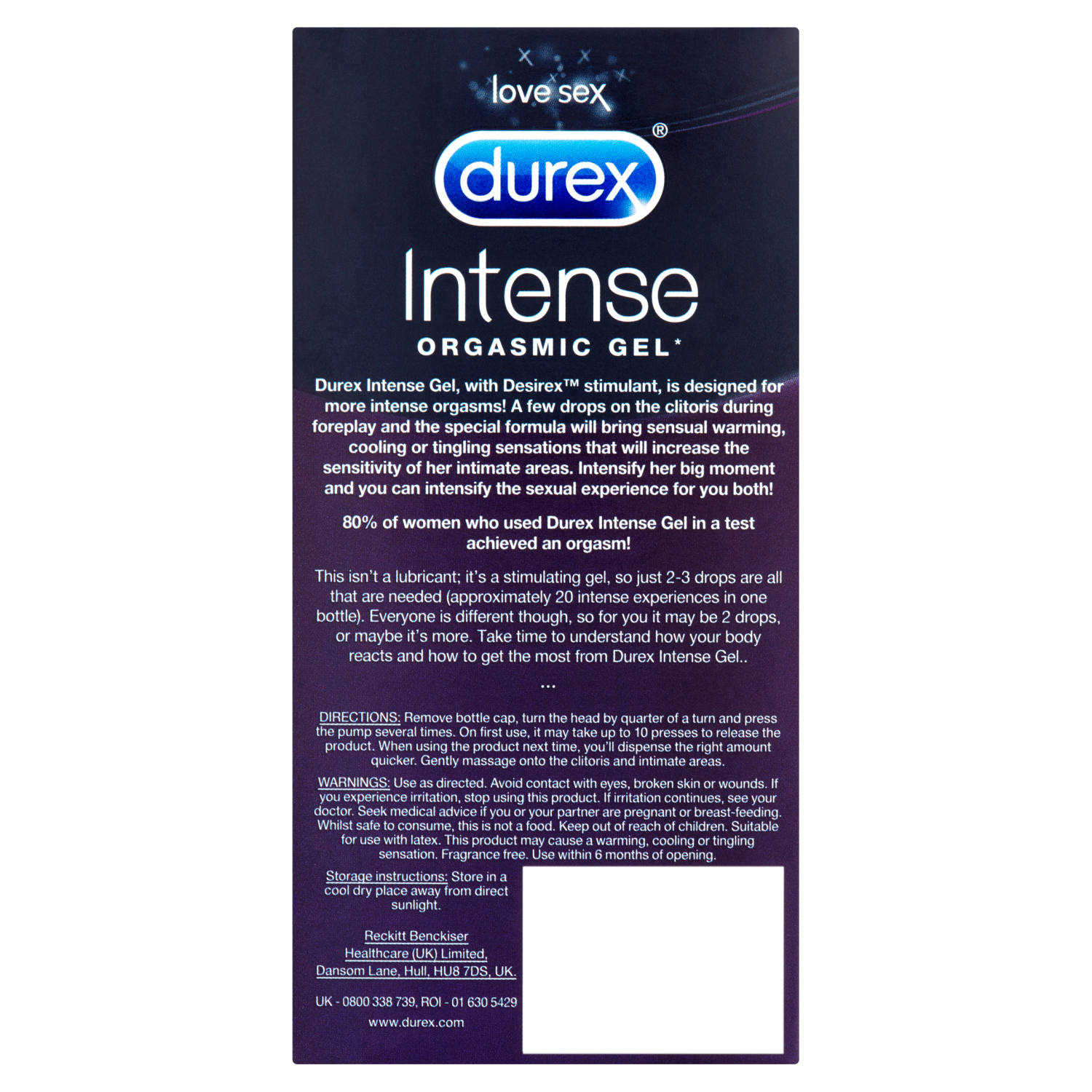 Durex Intense Gel 10ml