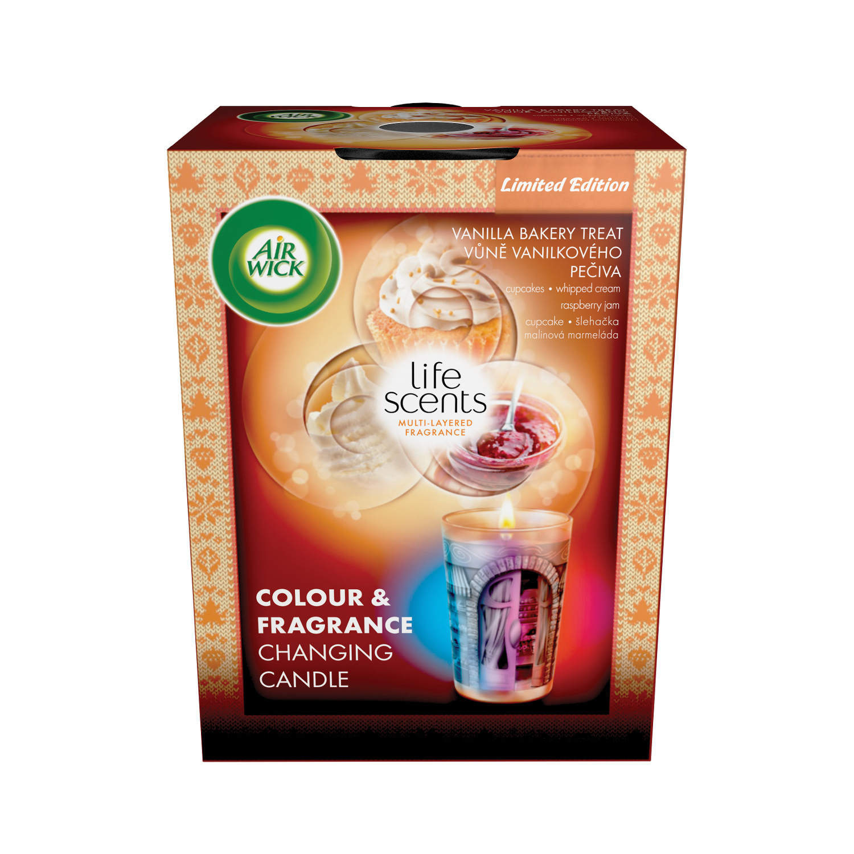 Multicolour svíčka - Vůně vanilkového pečiva