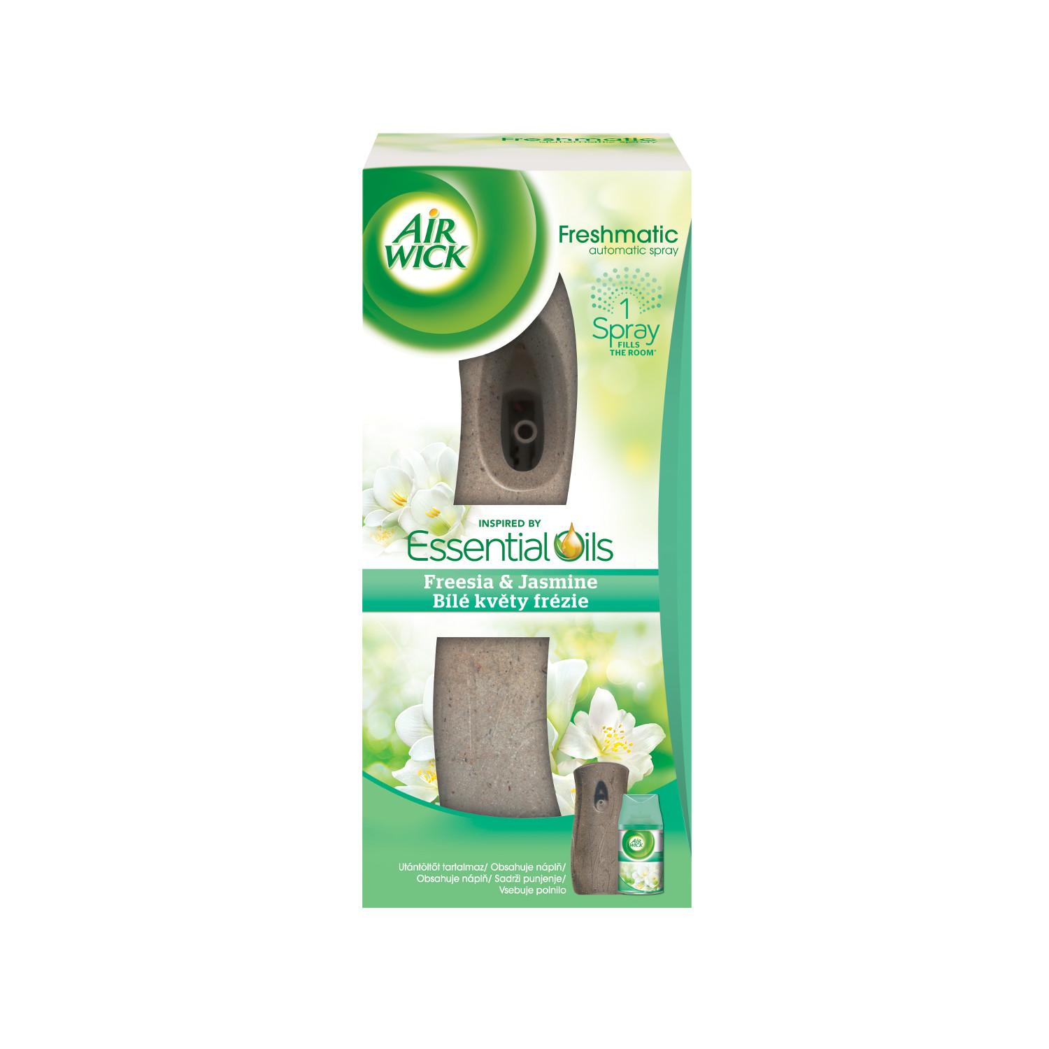 Freshmatic osvěžovač vzduchu + náplň - Bílé květy frézie